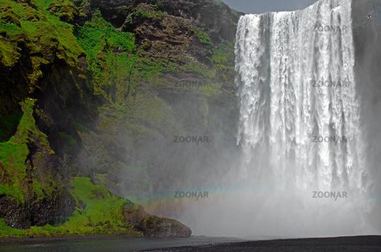 the waterfall skogafoss