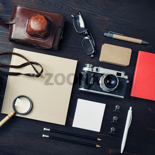 Concept with retro camera