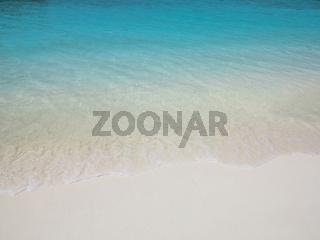 Clean sand beach, exotic Maldives location