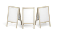 Blank advertising stands on white background