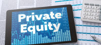 A tablet with financial documents - Private Equity