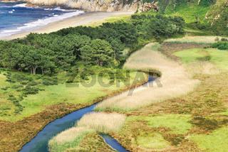 Spanien, Asturien: Strand Playa de Barroyo
