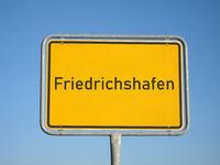 place name sign Friedrichshafen