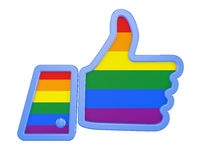 hand with the flag of the LGBT