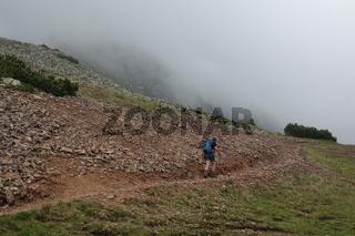 Aufstieg vom Jochgrimm zum Schwarzhorn
