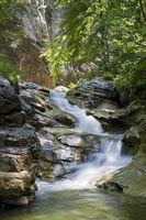 Gebirgsbach Haselschlucht im Nationalpark Kalkalpen, Oberösterreich, Österreich - Mountainriver in the nationalpark lime alps, Upperaustria, Austria