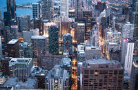Amazing view over the high rise buildings of Chicago - CHICAGO, USA - JUNE 12, 2019