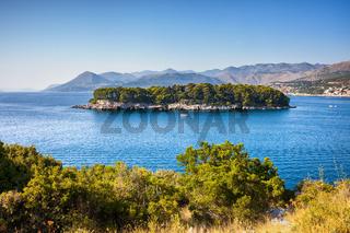 Island of Daksa on Adriatic Sea in Croatia