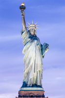 Statue of Liberty at dusk, New York City, USA