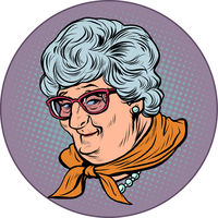 elderly woman grandmother portrait, old lady. Good lady