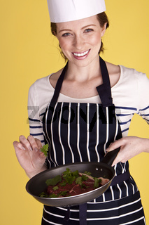 Beautiful female chef.