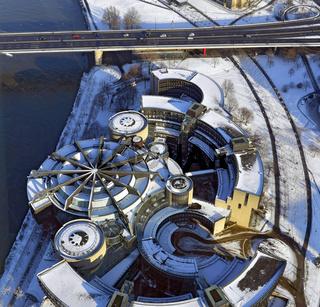 Der Düsseldorder Landtag im Winter