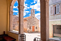 Village of Svetvincenat ancient lodge and stone chapel view