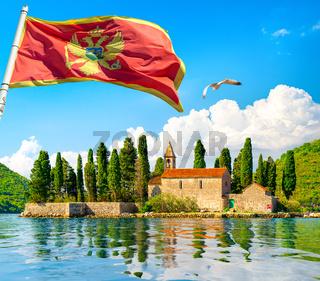 St. George Island and flag