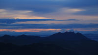 Dramatic morning sky over Mount Pilatus.