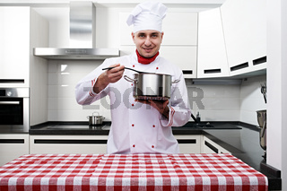 Male chef at kitchen