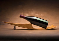 Wine bottle on stand
