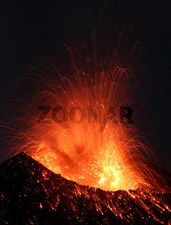 Eruption Vulkanausbruch