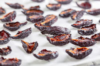 Dried plums fruits.