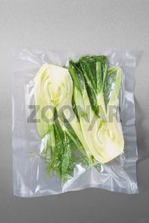 Vacuum sealed fennel