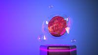 Bitcoin Soap Bubble Cyberpunk