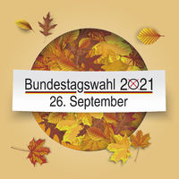 Bundestagswahl 2021 Autumn Cover Hole Foliage