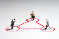Triangle with businessmen