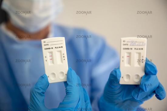 Positive COVID-19 rapid test