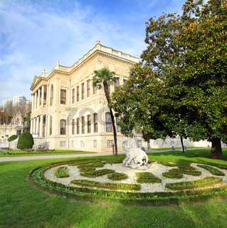 dolmabahce palace at autumn - istanbul