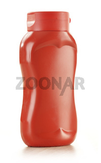Ketchup bottle isolated on white