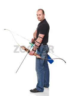 man with bow