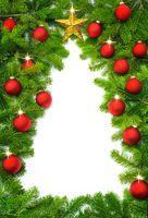 Creative Christmas tree border