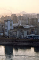 Pollution over Rise Buildings in Pyongyang