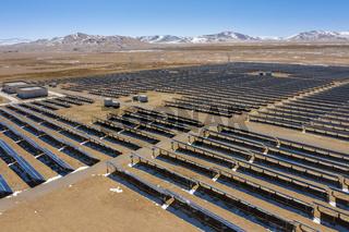 solar power station on the northern tibetan plateau