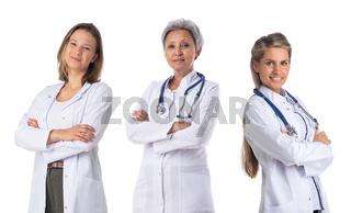 Medical doctors on white