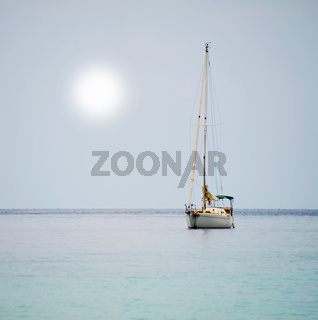 Yacht in the open sea