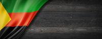 Azawad MNLA flag on black wood wall banner