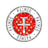 Paimio city postal rubber stamp