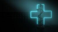 Aesculapian Staff Medicine Cross