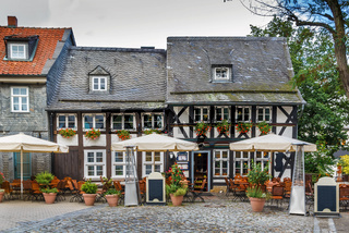 Old half-timbered house in Goslar, Germany