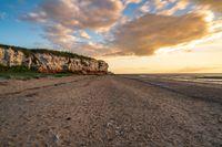 Hunstanton Cliffs in Norfolk, England