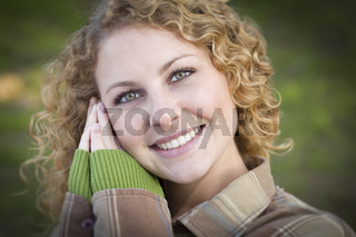 Pretty Young Smiling Woman Portrait