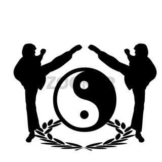 kung fu Logo six