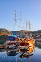 Tourist boats in Alanya, Turkey