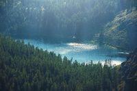 Wild Lake in Altai mountains