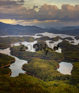 Amazing view of Ta Dung lake. Landscape