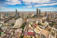 Bangkok Thailand, city skyline at Chao Phraya River and Icon Siam