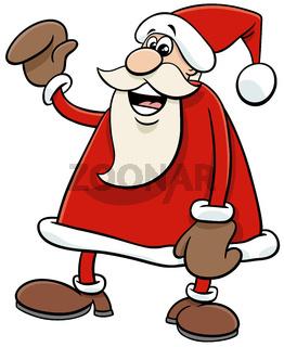 cartoon Santa Claus character on Christmas time