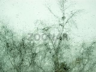 Fensterscheibe, Regen