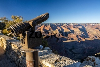 A public coin operated spyglass in Grand Canyon NP, Arizona